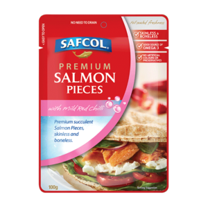 Salmon Pieces with Mild Red Chilli