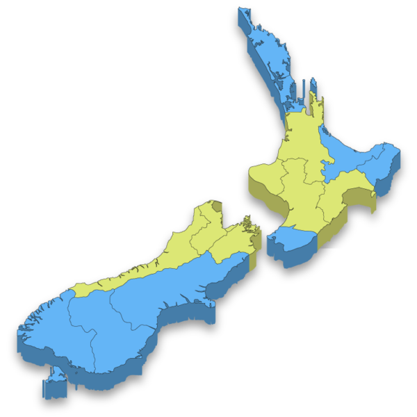 One 2 Many NZ map