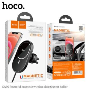 Hoco 15W Magnetic Wireless Charging Vent Phone Holder (CA90)